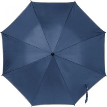Paraplu met zilverkleurige band